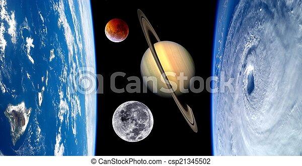 Earth Fantasy Planets Universe - csp21345502