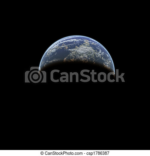 Earth from space - csp1786387
