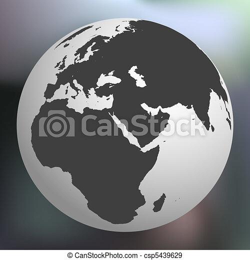 earth globe against abstract background - csp5439629