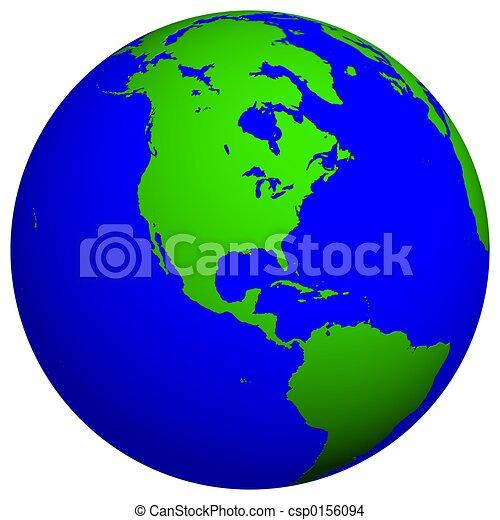 Earth globe North america drawing Search Clip Art Illustrations