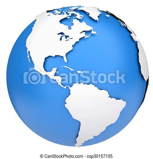 earth globe csp30157105