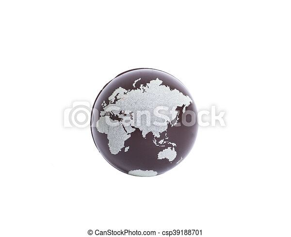 Earth Globe on white background - csp39188701