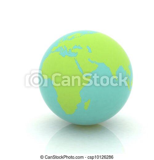 earth globe on white background - csp10126286