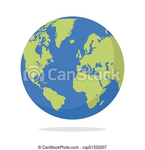 Earth globe on white background - csp51332207