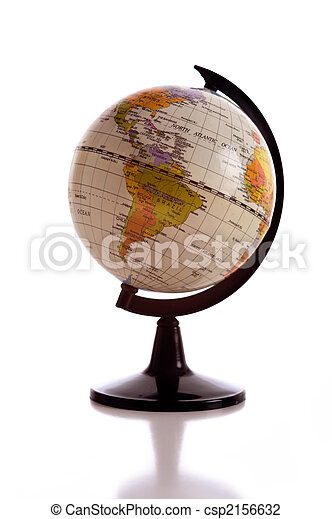 Earth Globe on White - csp2156632