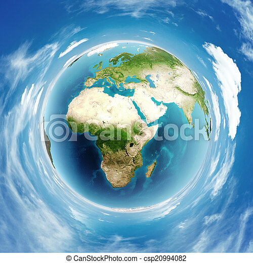 Earth globe real relief - csp20994082