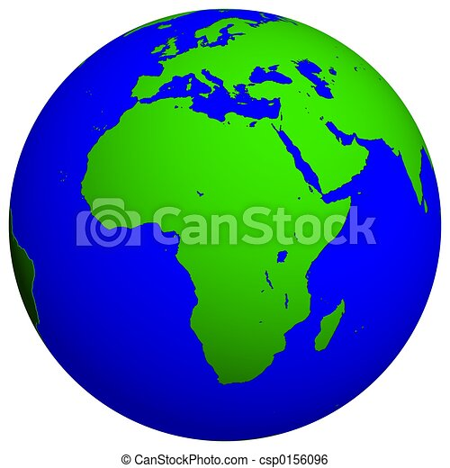 Earth Globe African Continent