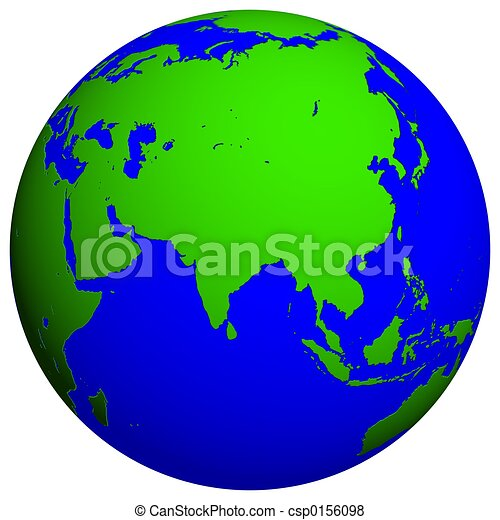 Earth globe Asia stock illustration Search EPS Clip Art Drawings