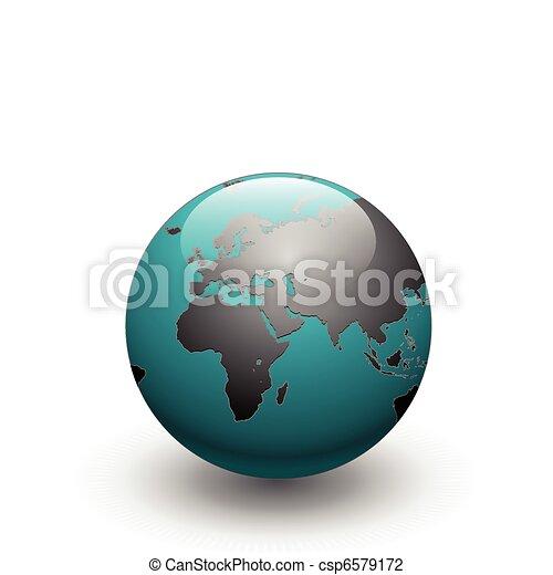 Earth globe vector - csp6579172