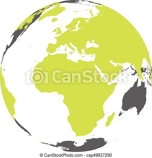 Earth globe with green world map focused on africa and europe flat earth globe with green world map focused on africa and europe flat vector illustration gumiabroncs Choice Image