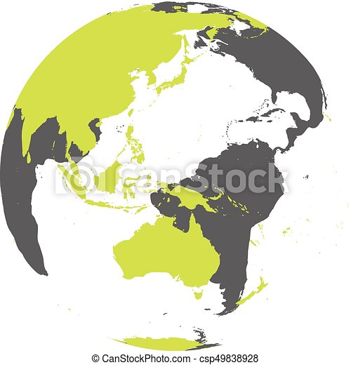 Earth globe with green world map focused on australia and earth globe with green world map focused on australia and pacific flat vector illustration gumiabroncs Image collections