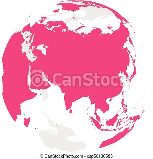 Earth globe with pink world map focused on asia flat vector earth globe with pink world map focused on asia flat vector illustration gumiabroncs Images