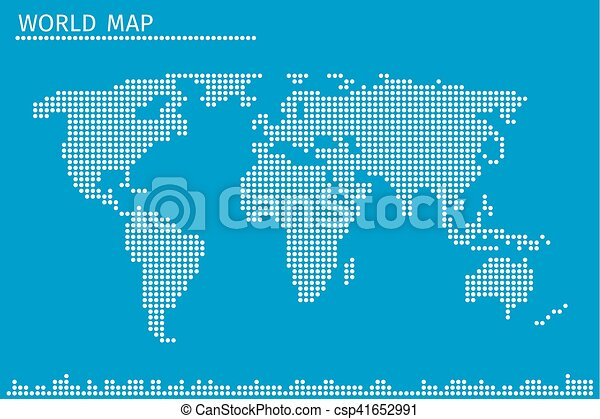 Earth globe world map of dots vector illustration earth eps earth globe world map of dots vector illustration gumiabroncs Choice Image