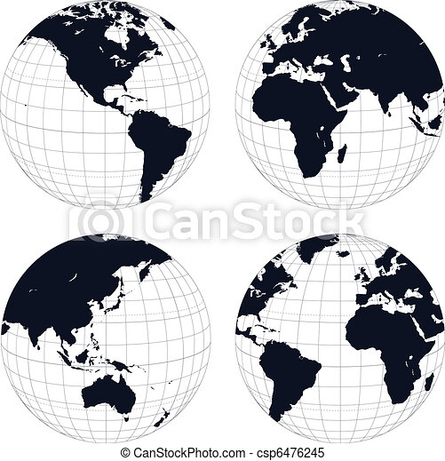Earth globes - csp6476245