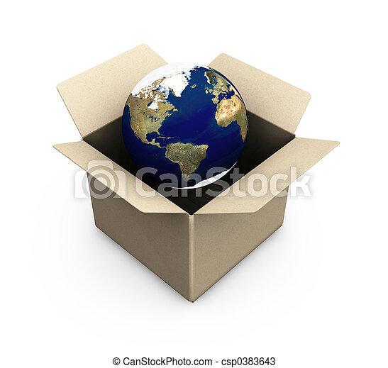 Earth in a box - csp0383643