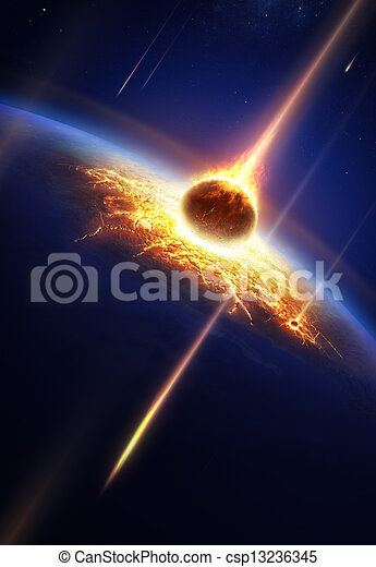 Earth In A Meteor Shower Elements Of This Image Furnished