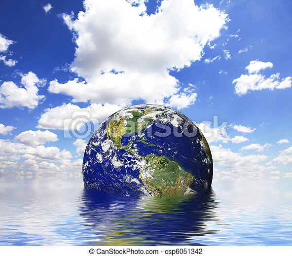 Earth in abstract water. - csp6051342