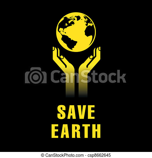 earth in hands - csp8662645