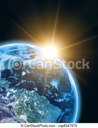earth in open space - csp8347970
