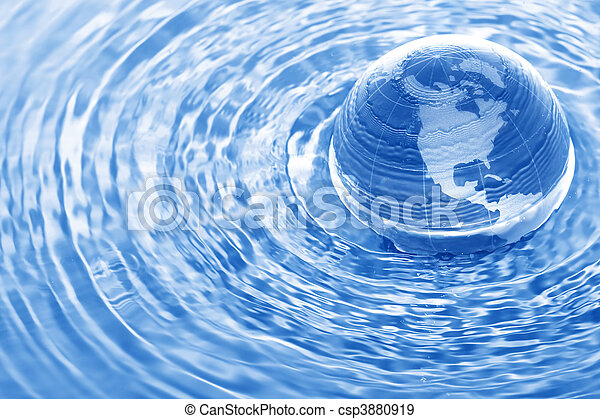 Earth in water - csp3880919