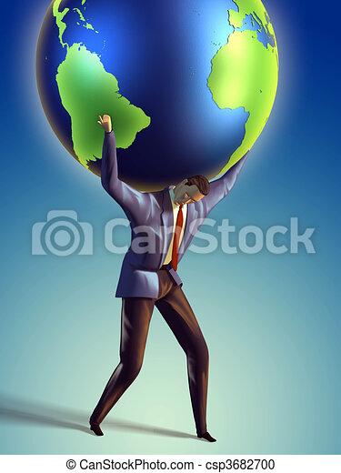 Earth lifting - csp3682700