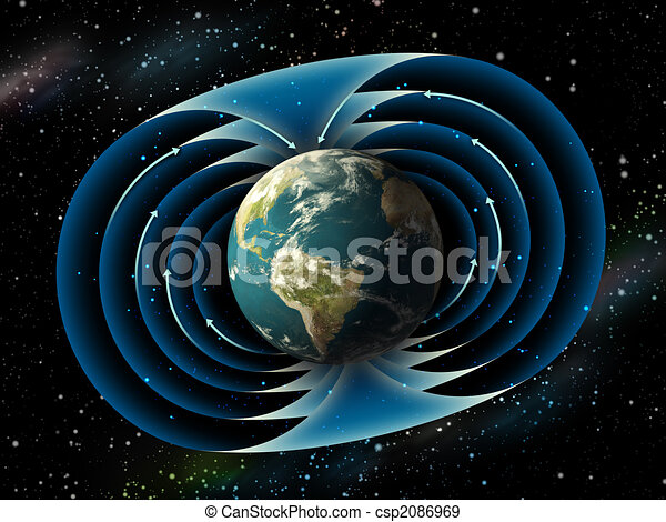 Earth magnetic field - csp2086969