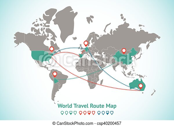 Earth map gps with lines and descriptions of world travel earth map gps vector gumiabroncs Images