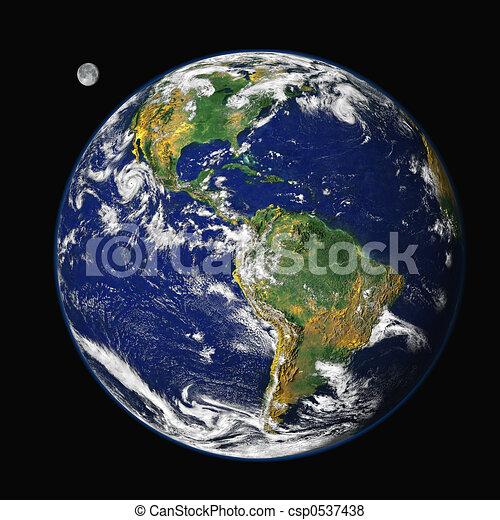 Earth & Moon - csp0537438