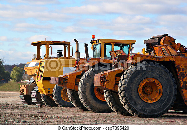 earth moving equipments - csp7395420