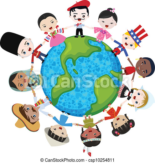 earth multicultural children hand in hand rh canstockphoto com multicultural day clipart multicultural food clipart