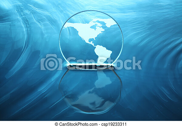 Earth on water - csp19233311