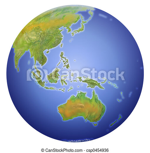 earth showing australia new zealand stock illustration_csp0454936jpg