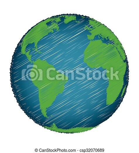 Earth sketch hand draw credit world map of nasa vector search earth sketch hand draw csp32070689 gumiabroncs Images