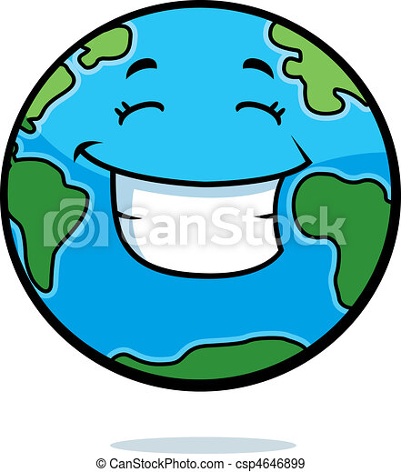 earth smiling a cartoon planet earth happy and smiling