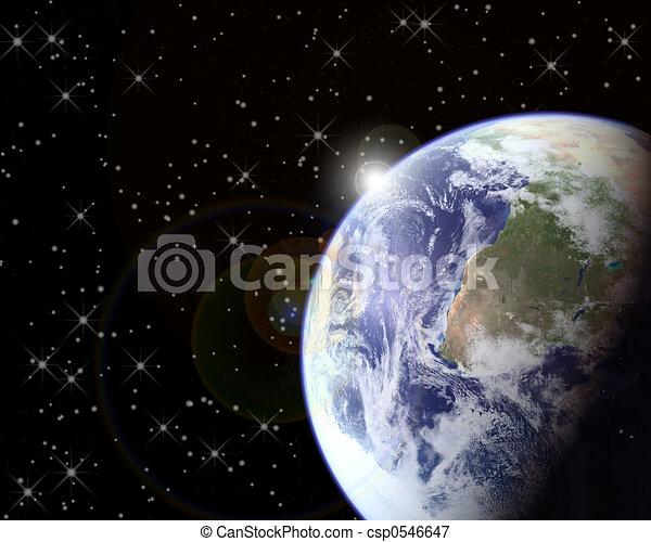Earth & Sun - csp0546647