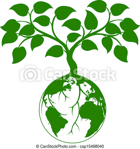 Earth tree graphic - csp15498040