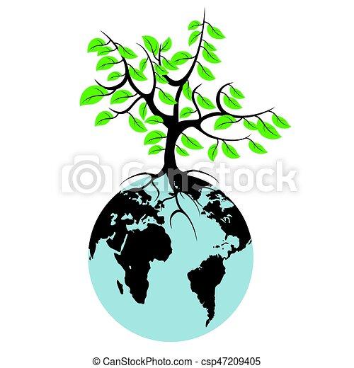 earth tree - csp47209405
