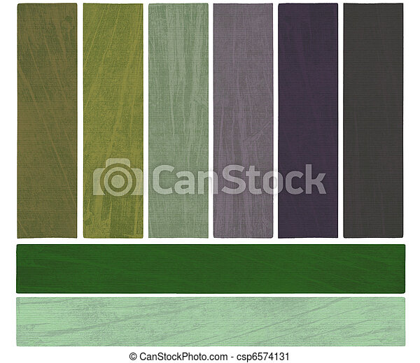 Earth water and sky color textured banner set - csp6574131