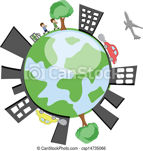 earth with buildings and peoples conceptual drawing art of clip rh canstockphoto com buildings clipart png building clip art free downloads