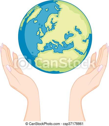 Earth Woman Hands