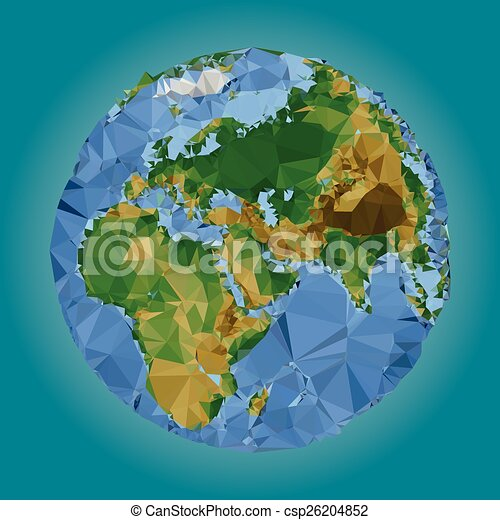 Earth world map low poly vector clipart vector search earth world map low poly vector gumiabroncs Image collections