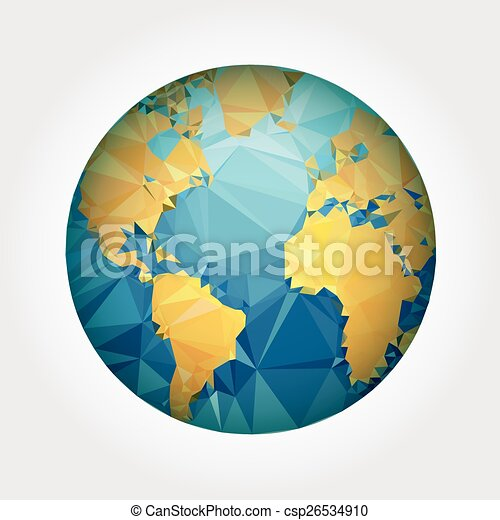 Earth world map low poly vector vector clip art search earth world map low poly vector gumiabroncs