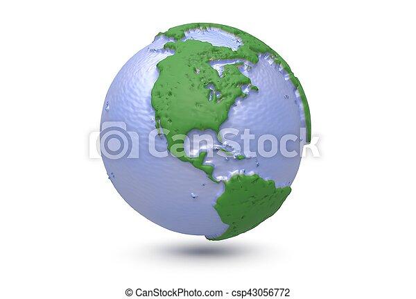 Earth world map polygonal globe north america 3d picture earth world map polygonal globe north america 3d illustration gumiabroncs Gallery