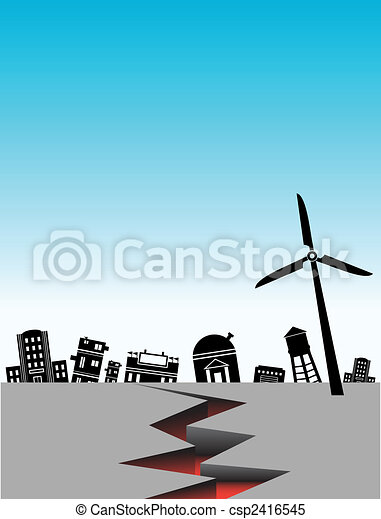 earthquake city - csp2416545