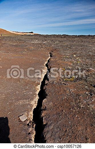 Earthquake fissure line - csp10057126
