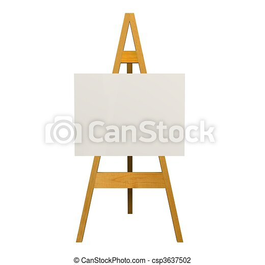 Illustration Of An Easel Over A White Background