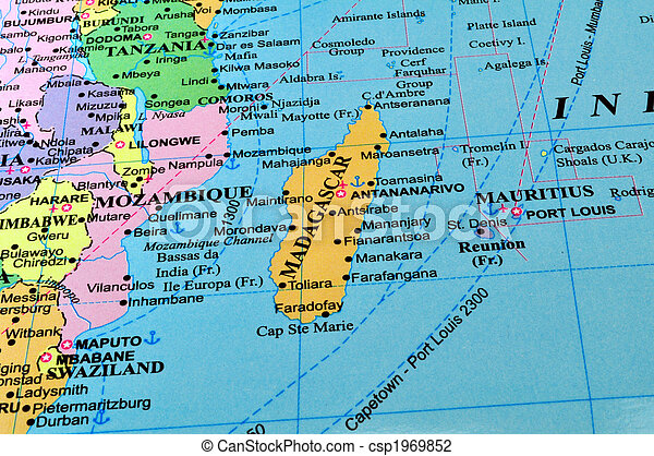 East Africa Map Map Of Madacascar And Countries In Eastern - Map of eastern africa