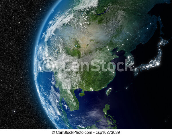 East Asia from space - csp18273039