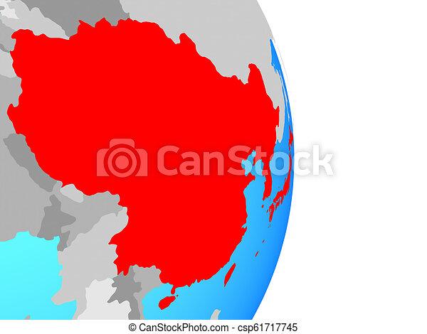 East Asia on globe - csp61717745