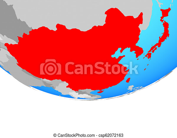 East Asia on globe - csp62072163